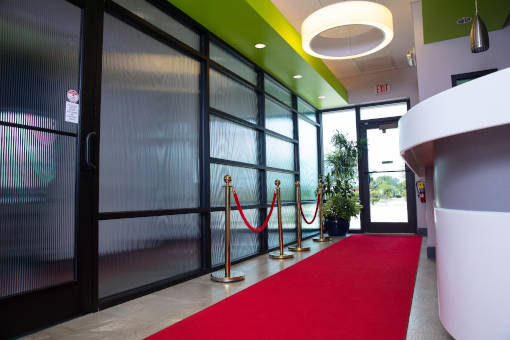entrance with red carpet